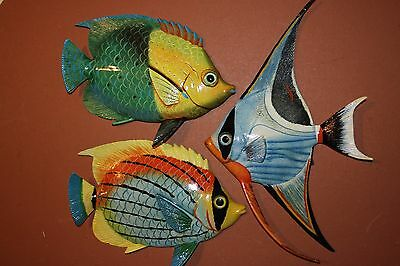 (3), Seafood Restaurant Decor, Coral Reef Fish, Tropical, Colorful Fish Wall