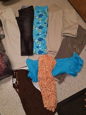 women's size small maternity clothes lot