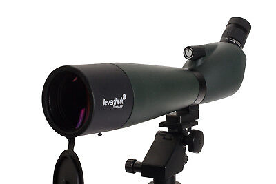 LEVENHUK ANGLED SPOTTING SCOPE 20-60x70 ZOOM MULTICOATED WATERPROOF STAY ON CASE