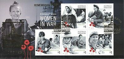 "2017 Women in War ""Remembrance Day"" Brisbane Show Gold Overprint MS, Numbered"