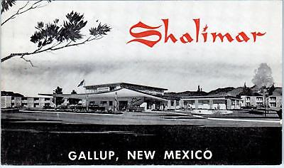 GALLUP, NM New Mexico  SHALIMAR MOTEL Route 66  c1960s Roadside Postcard