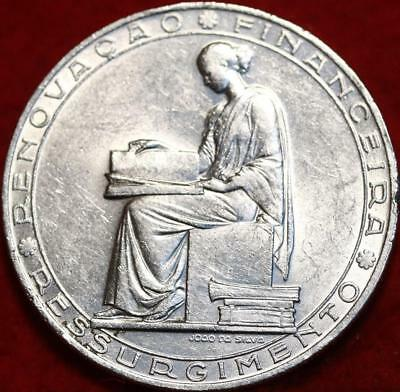 Uncirculated 1953 Portugal 20 Escudos Silver Foreign Coin Free S/H