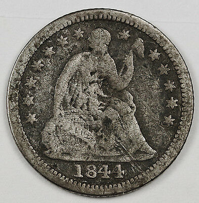 1844-o Liberty Seated Half Dime.  Error.  Medallic Reverse 180 rotated.  109806