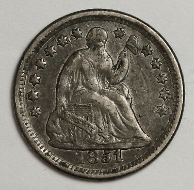 1851-o Liberty Seated Half Dime.  Natural X.F.  118647
