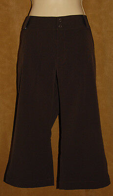 UNDER ARMOUR - Dark Brown - Solid - Athletic / GOLF Capri / Cropped PANTS sz 14