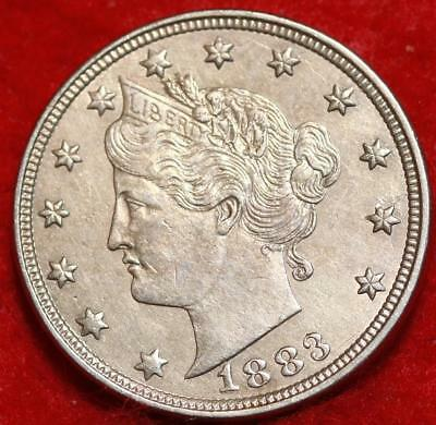 Uncirculated 1883 Philadelphia Mint No Cents Liberty Nickel Free Shipping