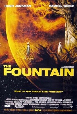 THE FOUNTAIN great original ds 27x40 movie poster 2006 (031-01)