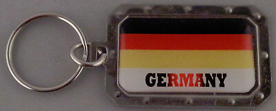 GERMANY German Flag Metal Key Ring DOMED IMAGE made in USA