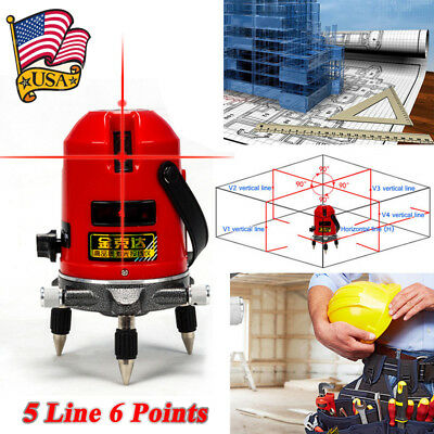 360 Rotary Automatic Self Leveling 5 Line 6 Points Laser Level Meter Measure US