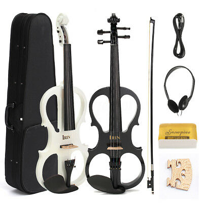 MECO 4/4 Electric Maple Violin Full Size & Ebony Fitting Cable Headphone&Case