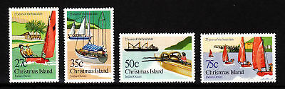 1983 Xmas Island 25 Years of Boat Club MUH Complete Set
