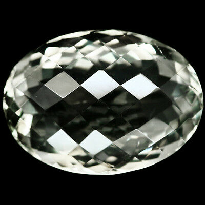 20.81 Ct Aaa! Natural! Green Amethyst Oval Facet With Checkerboard Table Uruguay
