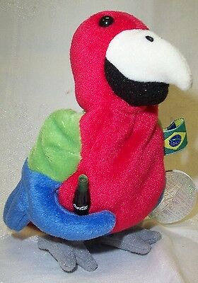 Coca Cola International Beanie named Barrot the Parrot of Brazil NWT