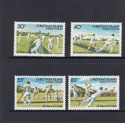 CHRISTMAS Island 1984 CRICKET CLUB Sport   Set of 4 MNH