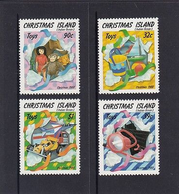 CHRISTMAS Island 1988 CHRISTMAS  TOYS Set of 4 MNH