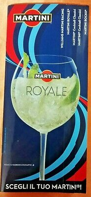 Catalogo Plastificato Da Bar Martini Originale Williams Advertising Pubblicita'
