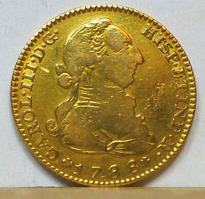 Spain Gold 2 Escudos 1788 M-M About Very Fine