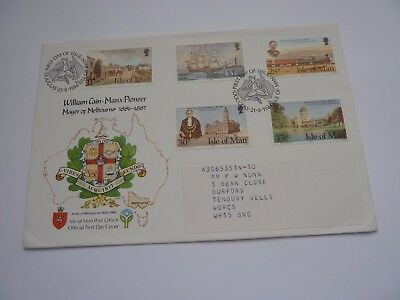 IOM William Cain 1984 FDC