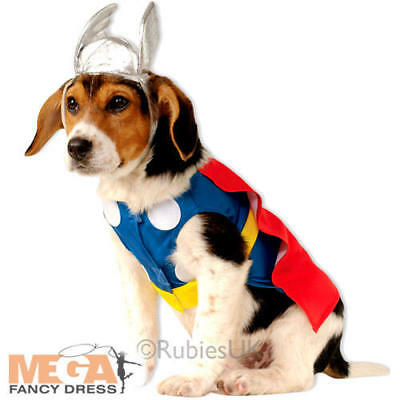 Thor Pet Dog Fancy Dress Superhero Comic Book Day Pet Animal Halloween Costume