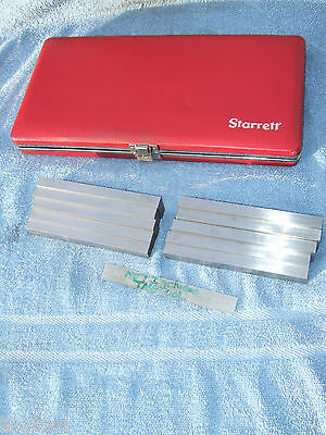 Starrett 1/2 Inch Thick 384 Parallel Set Machinist Jig Bore Mill Grind Inspect