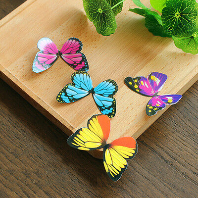 50x Butterflies Rainbow DIY  Cupcake Fairy Cake Toppers Cake Decor