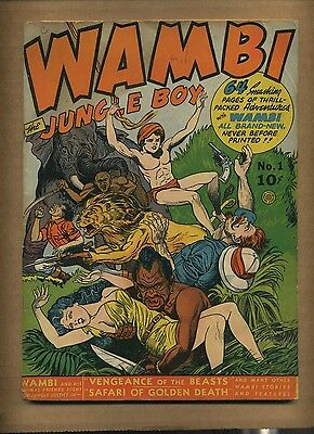 Wambi Jungle Boy 1 (GVG) Spring 1942 Fiction House 64 pages (c#08638)
