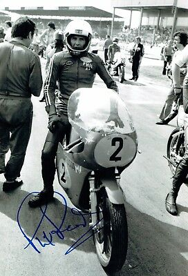 Phil Read SIGNED 12x8 MV Agusta Photo AFTAL COA Autograph Racing LEGEND