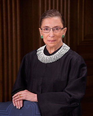 SUPREME COURT JUSTICE RUTH BADER GINSBURG 8x10 SILVER HALIDE PHOTO PRINT