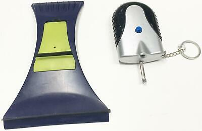 Car Padlock DeIcer and Windscreen Scraper with Squeegee Cleaner for Wing Mirrors