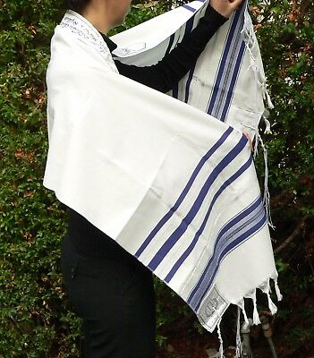 "Cheap Kosher Tallit Prayer Shawl 18x72"" Israel Men Women Boys Girls Tallis Talit"