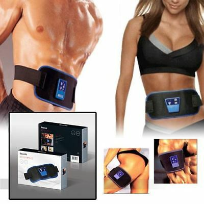 Abs Toning Belt Tone Muscle Abdominal Stomach Gymnic Toner Belt Body Massager