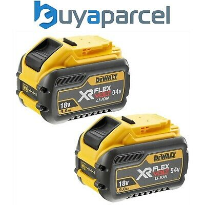 Dewalt DCB547 18v / 54v XR FLEXVOLT 9.0ah Battery DCB547-XJ - Twin Pack
