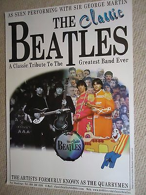The Classic Beatles Concert Gig Poster Unreleased Draft Gig Poster 2000 Mint
