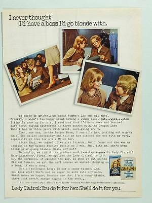 1975 Lady Clairol Hair Color Vintage Magazine Ad Page A Boss I'd Go Blonde With