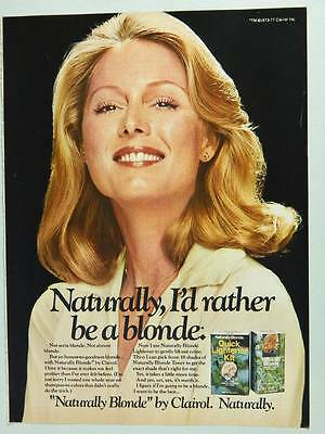 1977 Clairol Naturally Blonde Hair Color - Vintage Ad Page - Pretty Girl Smiling