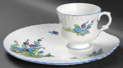 Crown Staffordshire GAINSBOROUGH Snack Plate & Cup 3700987