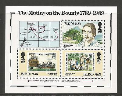 Isle of Man 1989 Bounty Mutiny 200th Anniv ss--Attractive Topical (394) MNH