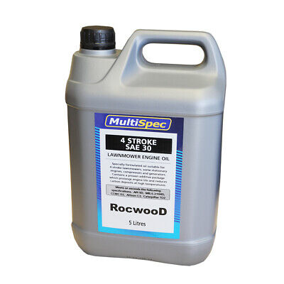 SAE 30 SAE30 5 Litre Oil Suitable For Most Makes And Models Of Lawnmower