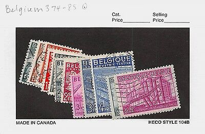 Lot of 12 1948 Belgium Used Stamps Scott # 374 - 385 #98532