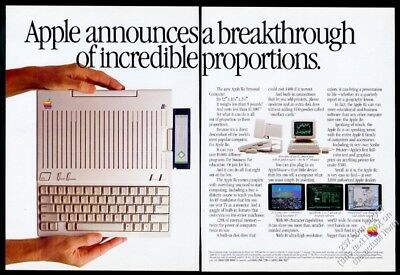 1984 Apple IIc computer photo Breakthrough Of Incredible Proportions vintage ad
