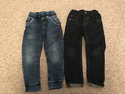 Boys Next 2 X Pairs Blue Denim Jeans Age 4-5 Years VGC