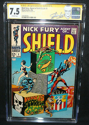 Nick Fury, Agent of S.H.I.E.L.D. #1 - Stan Lee - CGC Signature Series 7.5 - 1968
