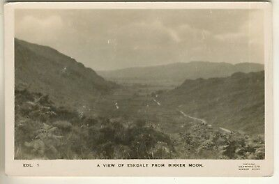 An Early Lilywhite Real Photo Post Card of A View Of Eskdale From Birker Moor.