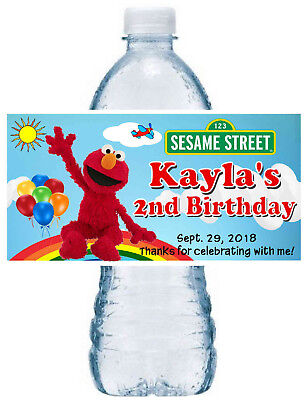 20 Elmo Sesame Street Birthday Party Favors ~ Water Bottle Labels