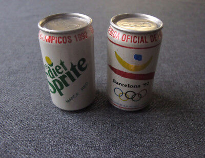 2 Vintage Diet Sprite Barcelona 1992 Olympic Games Official Drink Miniature Cans