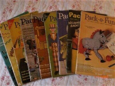 Pack o Fun magazine Scrap Craft 9 issues