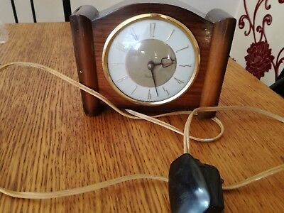 Retro Westclox Electric Clock Working Order Made In Scotland