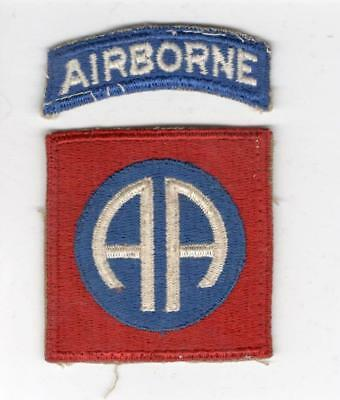 WW 2 82nd Airborne Division Patch & Tab Inv# X132