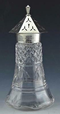 James Deakin & Sons Sheffield Sterling Silver Mounted Sugar Shaker Dated 1934 Nr