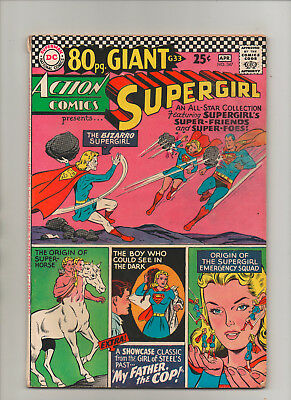 Action Comics #347 - 80 Page Giant! Bizarro Supergirl! - (Grade 6.0) 1967